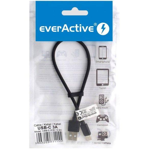 everActive CBB-0.3CB 30cm C típusú porttal ellátott töltő kábel