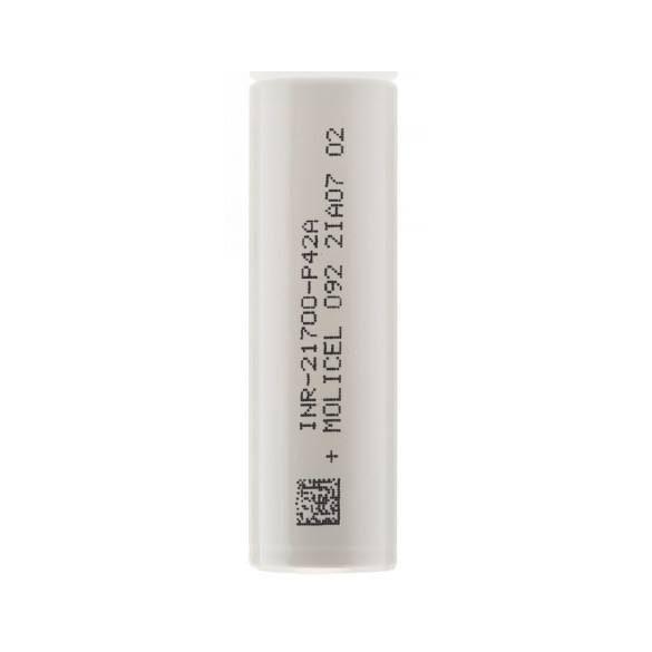 Molicel INR21700-P42A nagy terhelhetőségű tölthető li-ion akkumulátor
