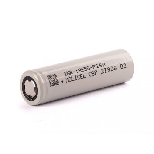 Molicel INR18650-P26A nagy terhelhetőségű tölthető li-ion akkumulátor