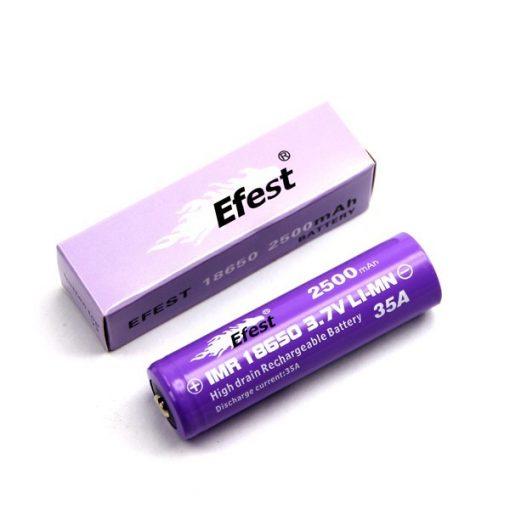 Efest IMR 18650 Li-Ion high drain button top battery