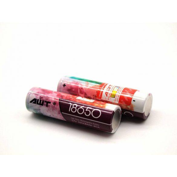 AWT 18650 3300 mAh 40A terhelhetőségű akkumulátor