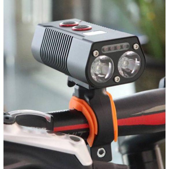 Boruit QB202 első kerékpárlámpa digitális kijelzővel