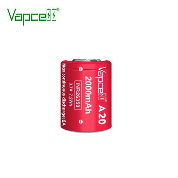 Vapcell A20 26350 2000mah 6A tölthető li-ion akkumulátor