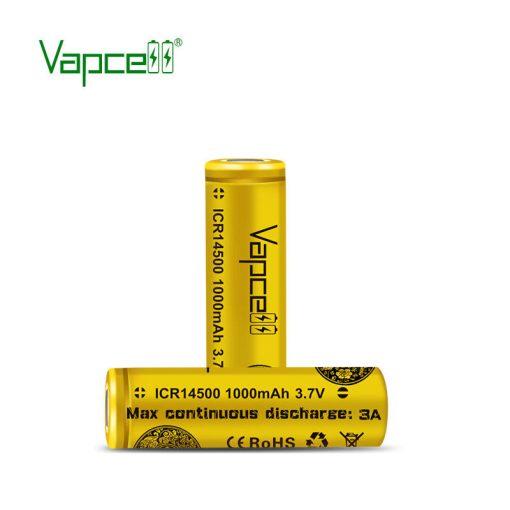 Vapcell INR14500 1000mah 3A tölthető li-ion akkumulátor
